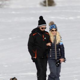 Donatella Versace z partnerem na wakacjach