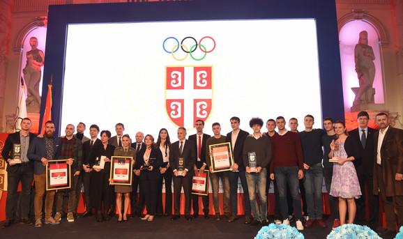 Svečanost povodom godišnjih nagrada najboljima u organizaciji Olimpijskog komiteta Srbije