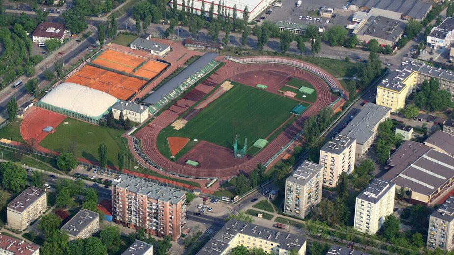 "Stadion ""Podskarbińska"", zdjęcie z 2009 r."