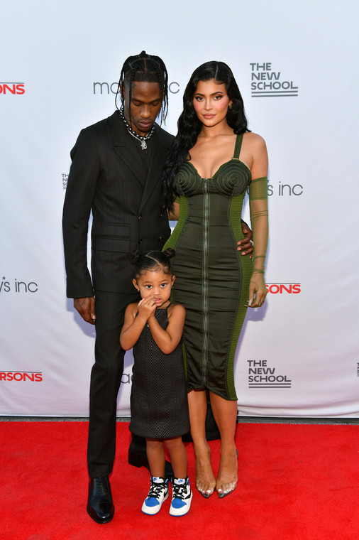 Kylie Jenner, Travis Scott and Stormi at a charity gala in New York