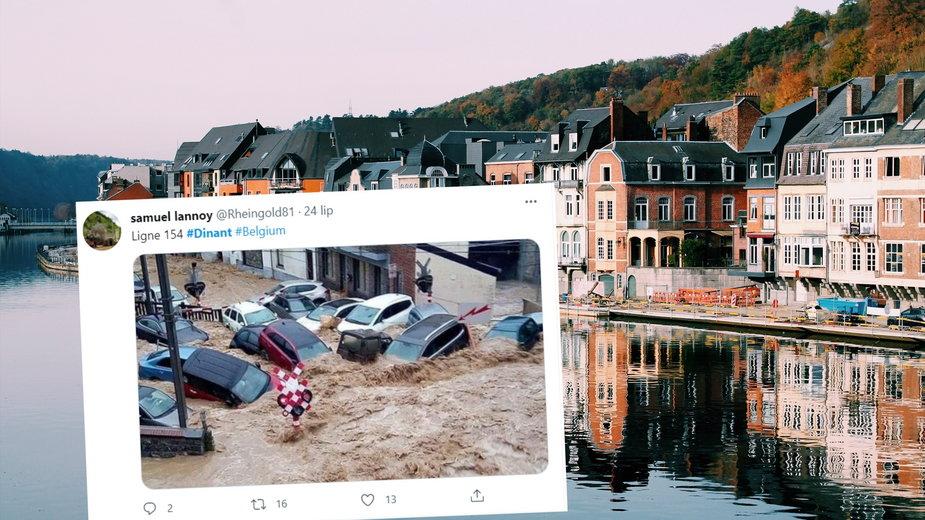 Katastrofalna powódź błyskawiczna nawiedziła belgijskie miasto Dinant