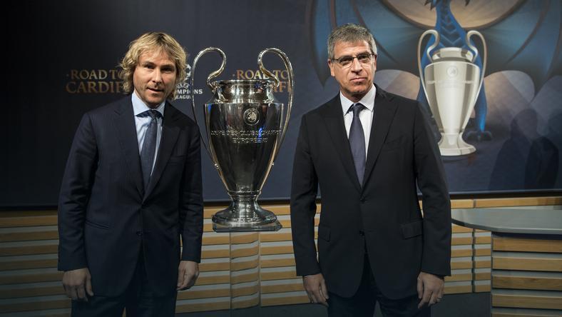 Pavel Nedved (z lewej)