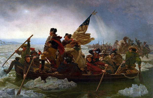 Washington forsuje rzekę Delaware, obraz Emanuela Leutze