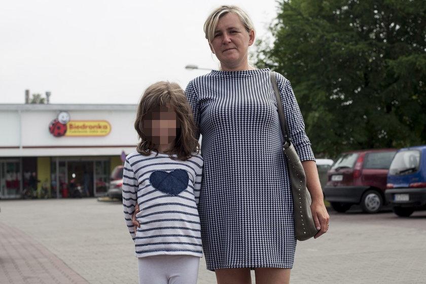 Katarzyna Balcerzak (36 l.), z córką Klaudią (10 l.)