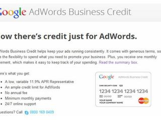Adwords credit card