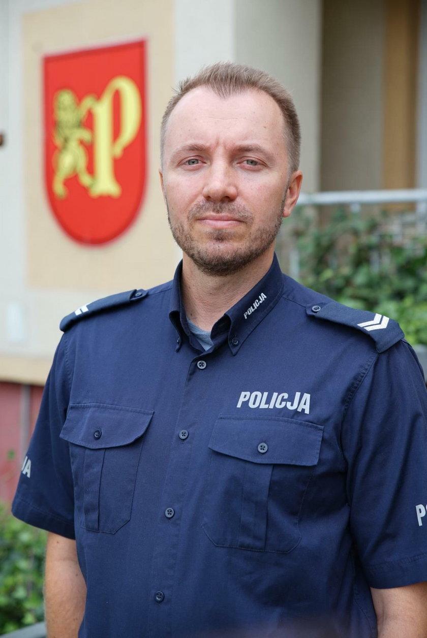 sierż. Karol Kościuk, rzecznik policji w Pruszczu Gdańskim
