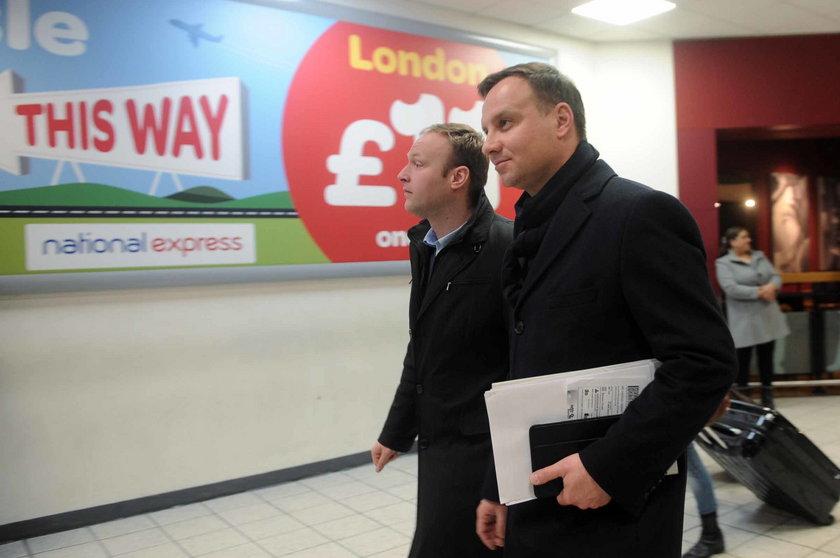 Andrzej Duda już w Londynie