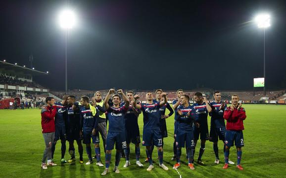 Radost Zvezdinih fudbalera u Kruševcu