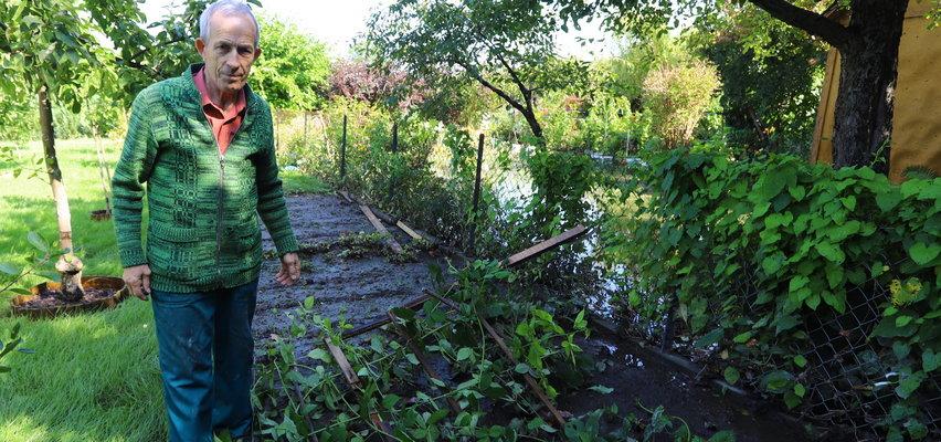 Dramat działkowców z Lublina. Woda zatopiła nasze ogródki