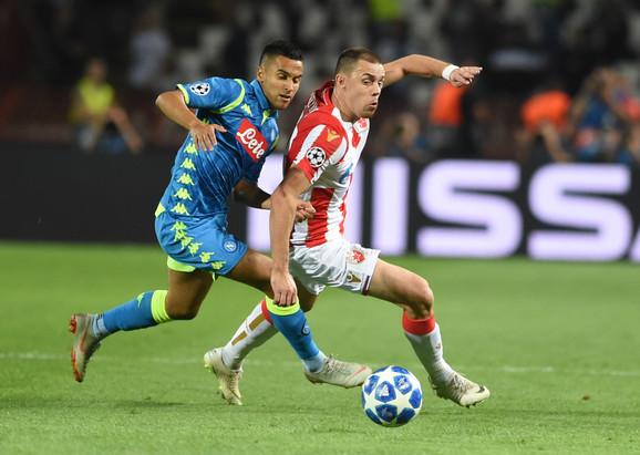 Milan Rodić na meču sa Napolijem