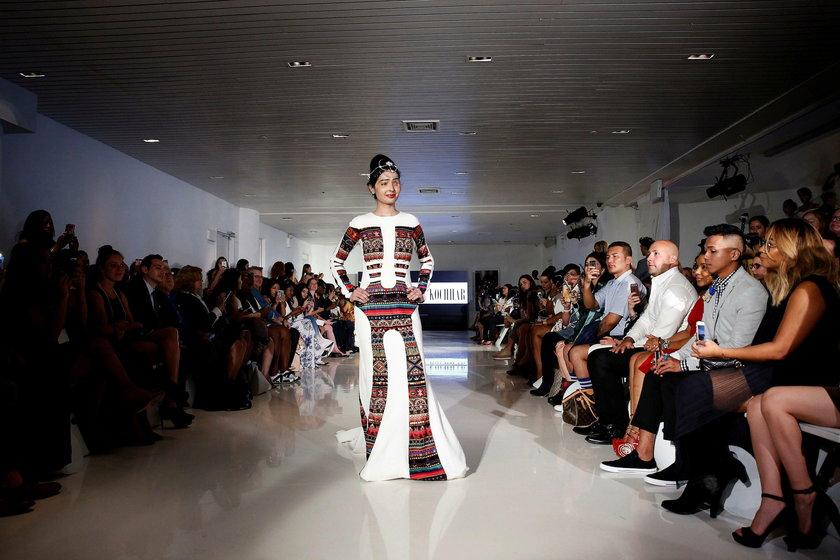 Poparzona kwasem modelka na tygodniu mody