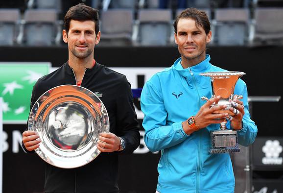 Vice šampion i šampion posle finala Madrida 2019: Novak Đoković i Rafael Nadal