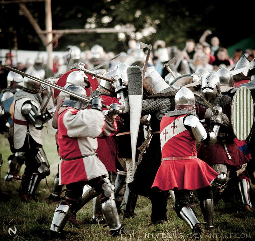 Polscy rycerze w walce