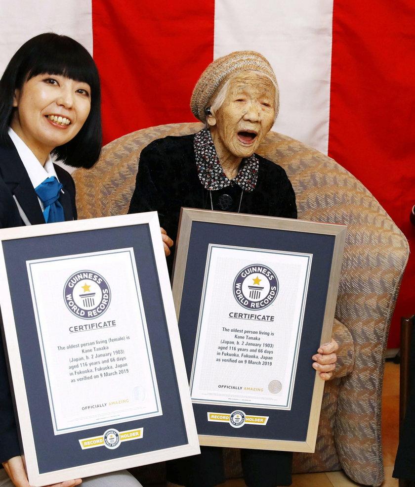 116-letnia Japonka Kane Tanaka