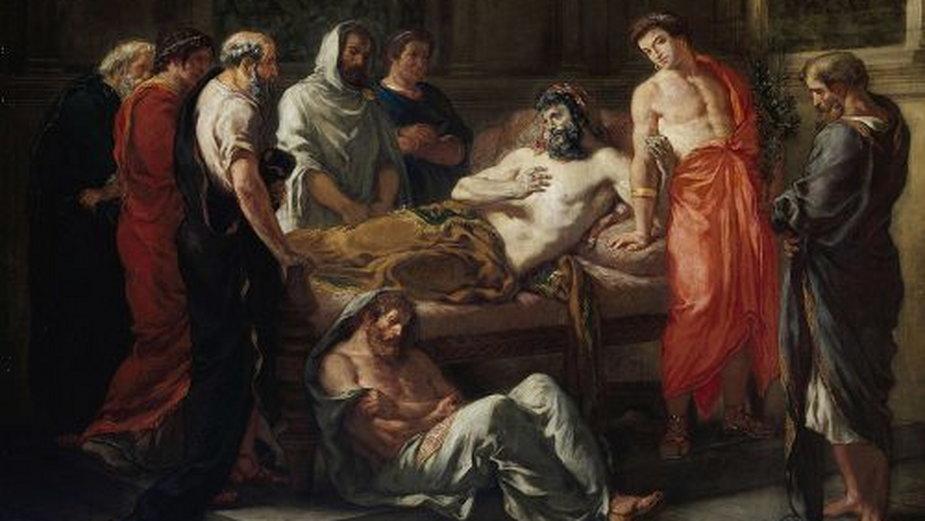 Umierający Marek Aureliusz, obraz Eugène Delacroix