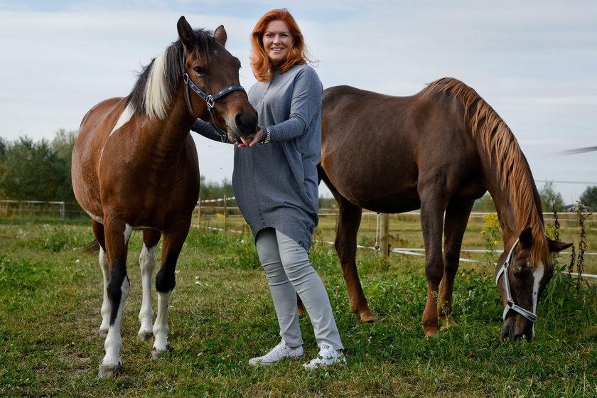 Katarzyna Dowbor z końmi