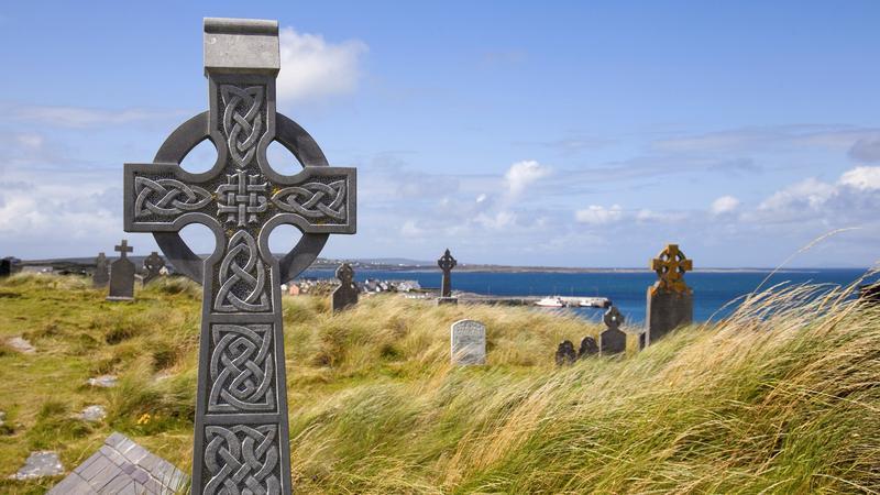Irlandia - Wyspy Aran - Cmentarz na Inisheer