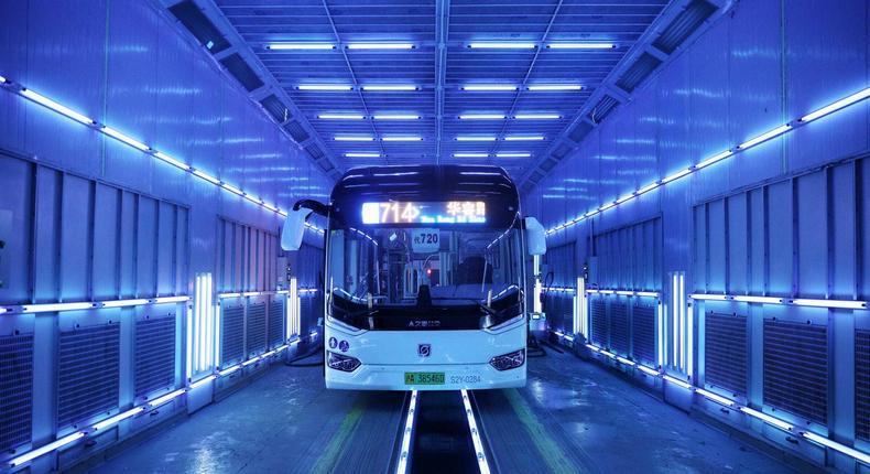 Shanghai bus disinfectant