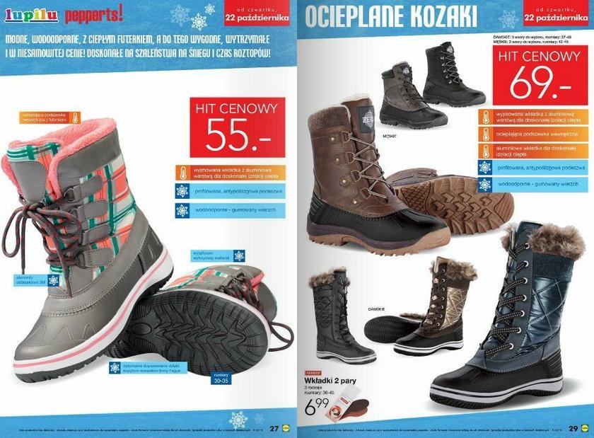 Zimowe buty w Lidlu