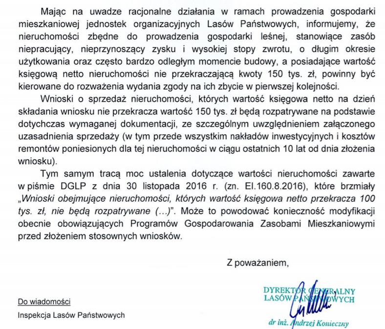 Decyzja Andrzeja Koniecznego o zmianie przepisów