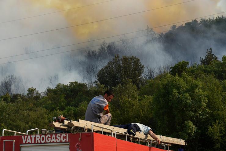 Požar u Crnoj Gori kod Tivta (foto: arhiva)