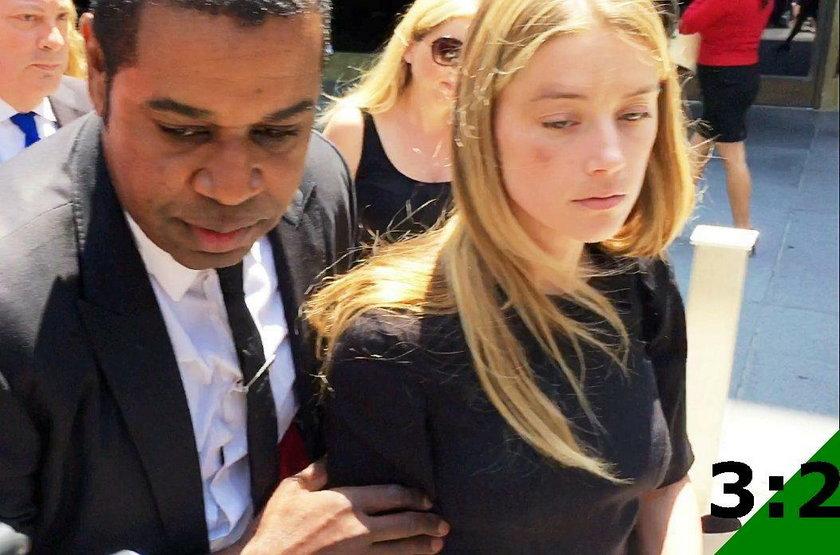 Amber Heard w sądzie
