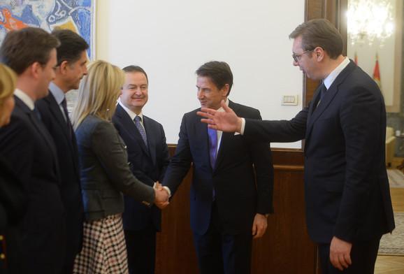 Aleksandar Vučić i Đuzepe Konte