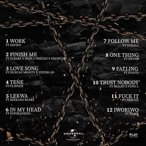 Davido, Peruzzi, 2Baba, Patoranking join Larry Gaaga on 'Living in Bondage' soundtrack. (Universal Music Nigeria)