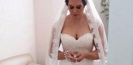 Piękny ślub. I nagle zaskoczenie. Co odsłonił welon