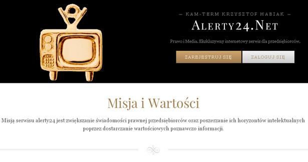 Strona serwisu Krzysztofa Habiaka Alerty24