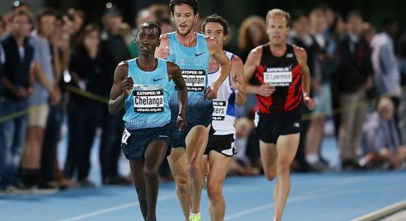 Samuel Chelanga on the track
