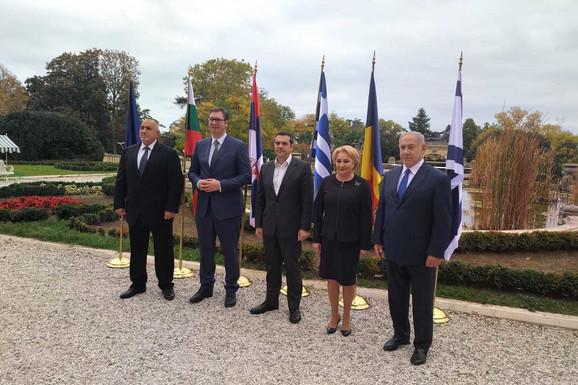 Bojko Borisov, Aleksandar Vučić, Aleksis Cipras, Vjorika Danćila i Benjamin Netanijahu