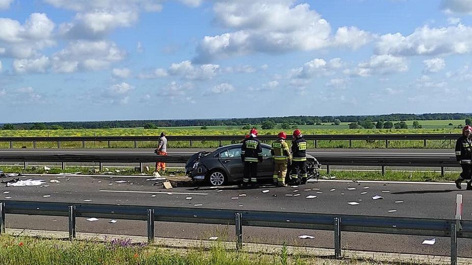 Wypadek na S3 koło Gorzowa