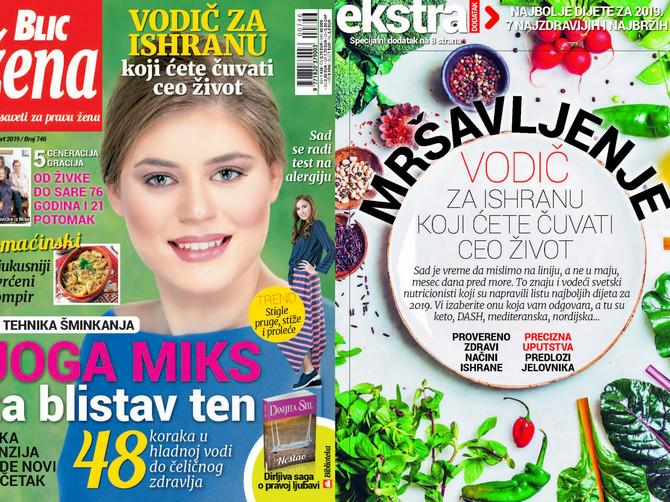 """Vodič za ishranu koji ćete čuvati ceo život: U novoj """"Blic ženi"""" najbolje dijete za 2019."""
