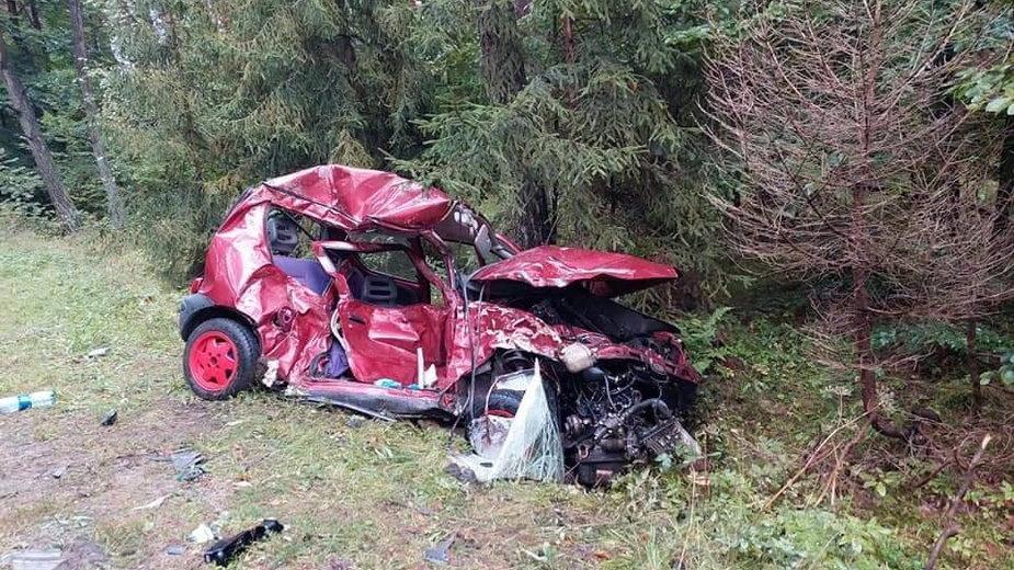 Wypadek w Kwaśniowie Dolnym
