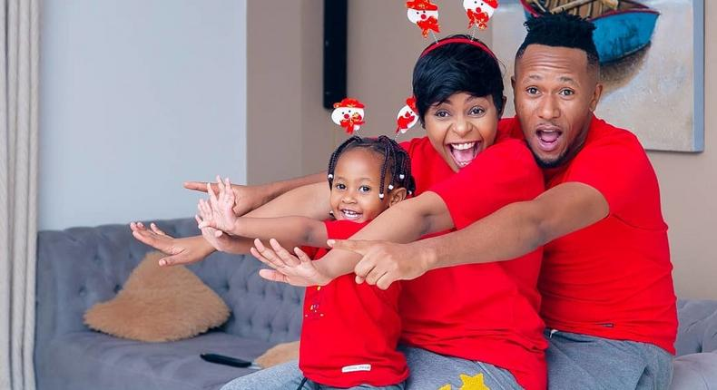 DJ MO with his wife Size 8 and Daughter Wambo