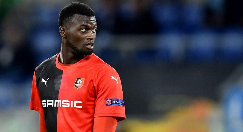 Mbaye Niang sous les couleurs du Stade Rennais (Ligue 1)