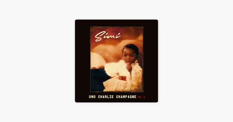 The album art for 'Omo Charlie Champagne Vol. I' is Simi as a toddler. (Apple/iTunes)