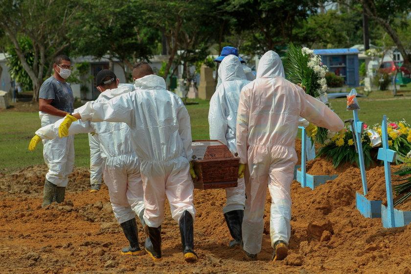 Brazylia, USA i Indie liderami w nowych zakażeniach.