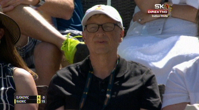 Bil Gejts gleda finale