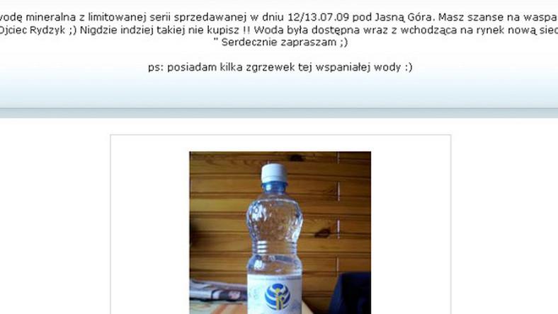 Woda mineralna od Rydzyka już w sprzedaży