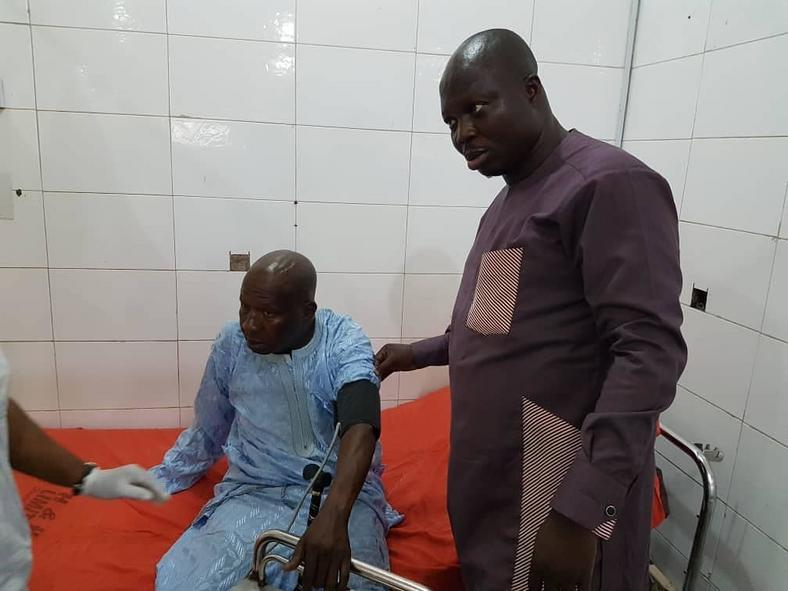 Baba Suwe's visit to the hospital was reportedly aided by a film association and the Federal Ministry of Fealth. [Instagram/officialyomifashlanso1]