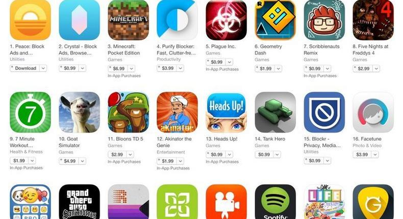 Some of the ad-blocking apps popping up and taking over the Apple App Store