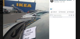 Klienci IKEI znajdują to na swoich autach. Za wszystkim stoją narodowcy