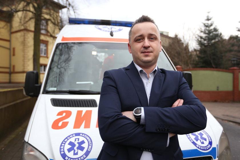 Marcin Mańkowski, dyrektor zielonogórskiego pogotowi