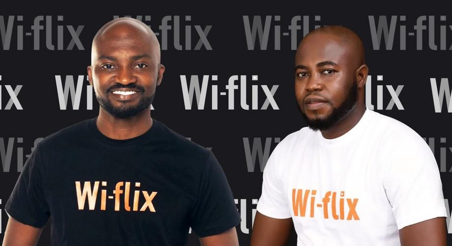 Wi-Flix founders Louis Manu and Bright Yeboah