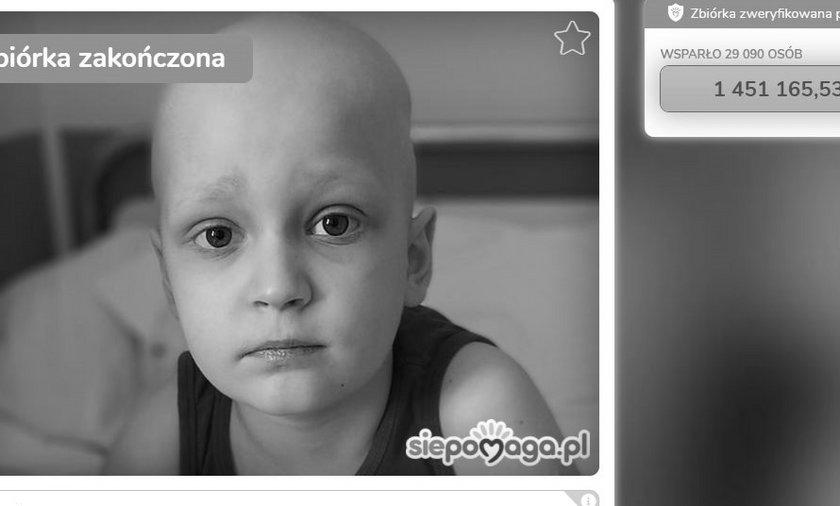 7-letni Bruno Bruno Pressler-Wigura nie żyje. Chłopiec walczył z rakiem