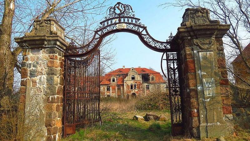 Glinka koło Góry Śląskiej - opuszczony pałac