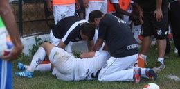Szok! Policyjny pies pogryzł piłkarza w trakcie meczu! ZDJĘCIA
