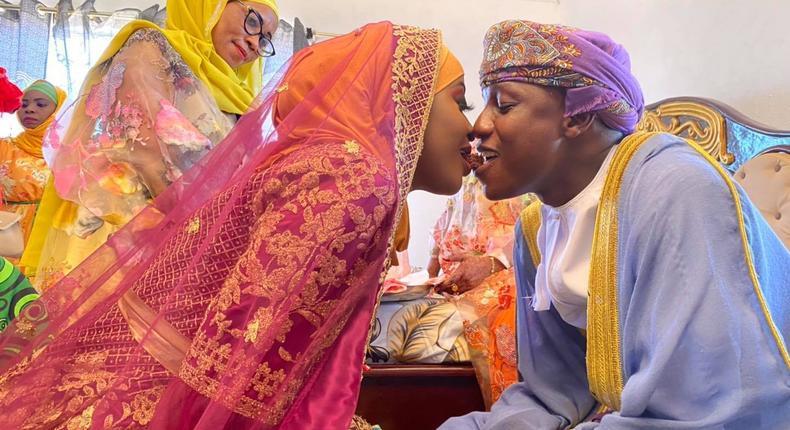 Radio Maisha's Mbaruk Mwalimu weds Switch TV's Hadiya Mwasiwa in beautiful Nikah ceremony